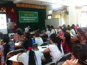 Tập huấn kiến thức vệ sinh an toàn thực phẩm tại Nghệ An