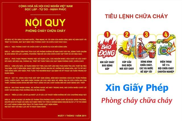 Đối tượng cấp Giấy phép phòng cháy chữa cháy tại Nghệ An