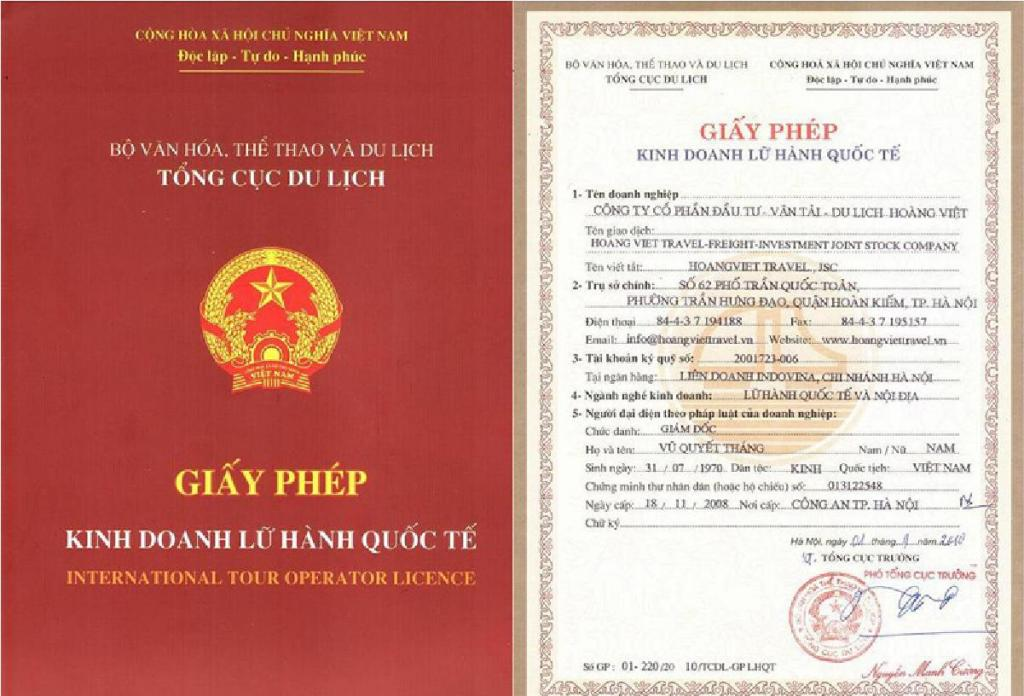 Đăng ký giấy phép kinh doanh lữ hành quốc tế tại Nghệ An
