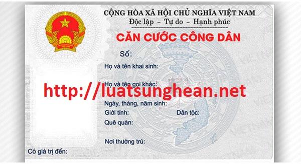 Thủ tục liên quan đến thẻ căn cước công dân