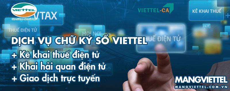 Dùng chữ ký số Viettel để kê khai thuế qua mạng